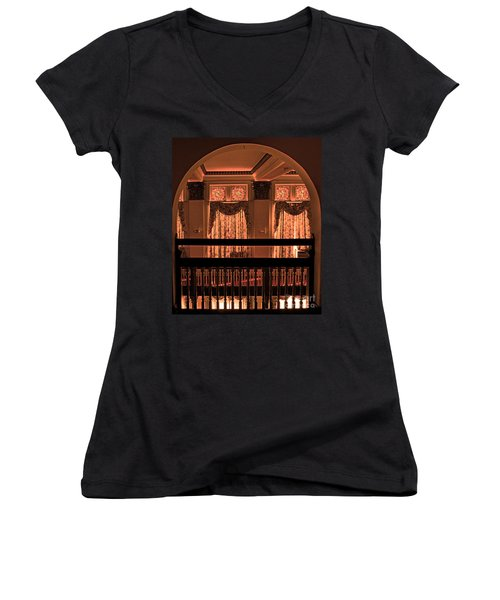 Arch Of Light In Near Night Women's V-Neck (Athletic Fit)