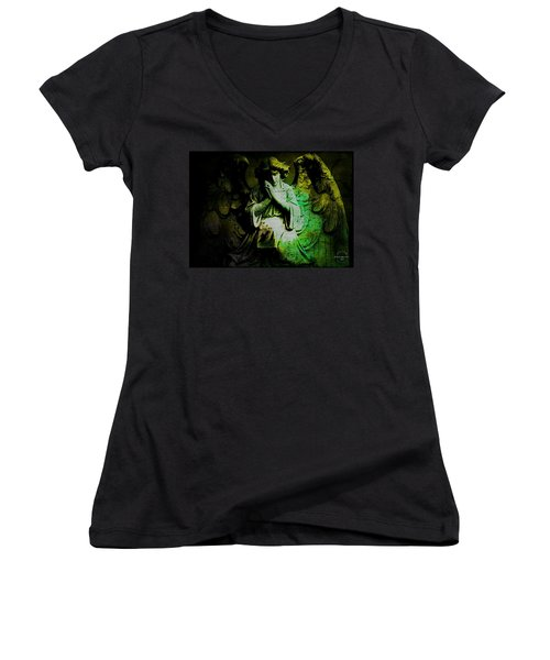 Archangel Uriel Women's V-Neck T-Shirt