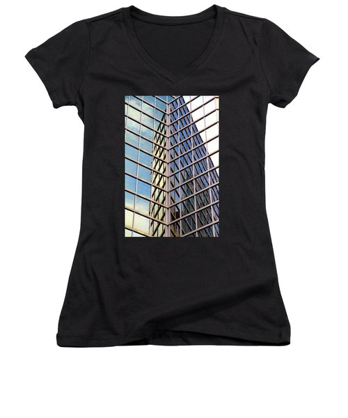 Architectural Details Women's V-Neck T-Shirt (Junior Cut) by Valentino Visentini
