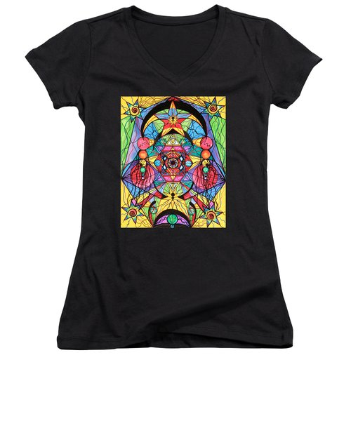 Arcturian Ascension Grid Women's V-Neck