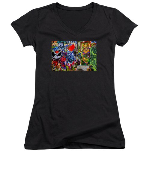 Art Alley Three Women's V-Neck T-Shirt