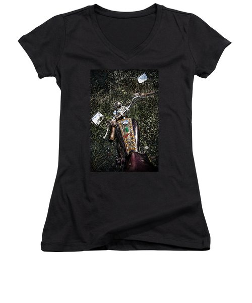 Art In The Weeds Women's V-Neck (Athletic Fit)