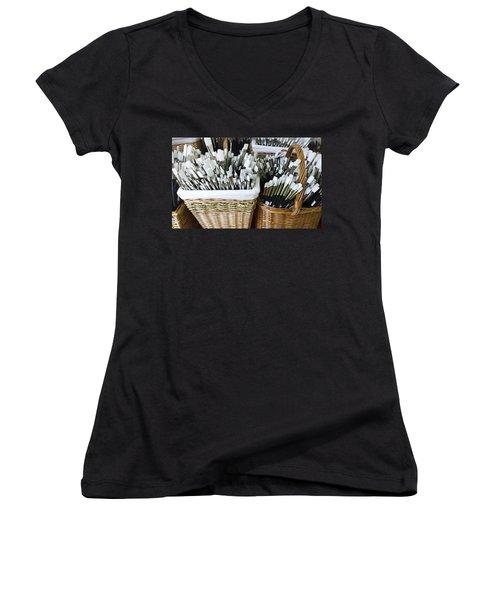 Artist Brushes Women's V-Neck T-Shirt