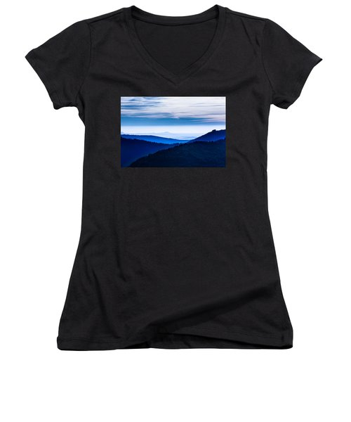 As Far As Our Eye Can See Women's V-Neck (Athletic Fit)