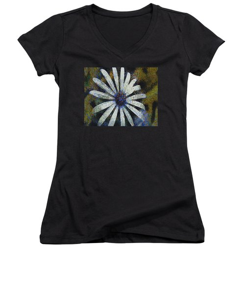 Women's V-Neck T-Shirt (Junior Cut) featuring the painting As It Happened by Joe Misrasi