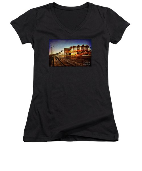 Asbury In The Morning Women's V-Neck T-Shirt (Junior Cut)