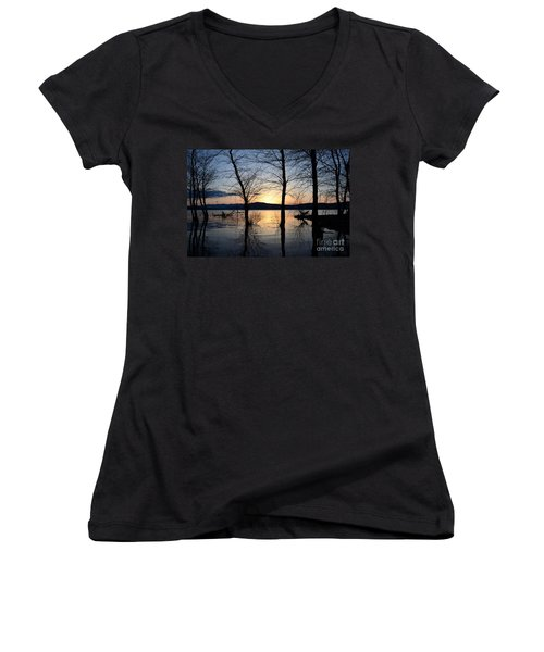Ashokan Reservoir 43 Women's V-Neck T-Shirt