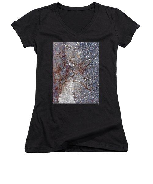 Asphalt - Portrait Of A Lady Women's V-Neck