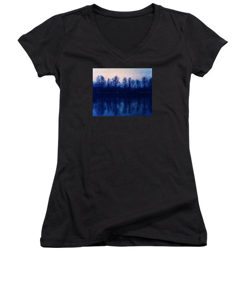 At The End Of The Day Women's V-Neck T-Shirt (Junior Cut) by Vittorio Chiampan