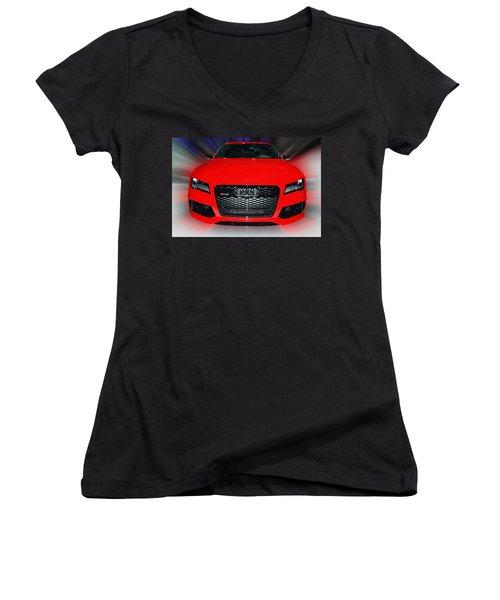 Audi Quattro Rs7 2014 Women's V-Neck (Athletic Fit)