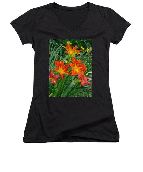 Lilies Galore Women's V-Neck (Athletic Fit)