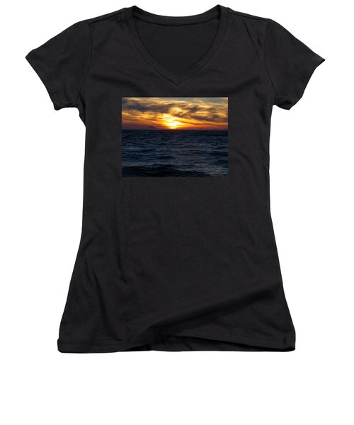 Women's V-Neck T-Shirt (Junior Cut) featuring the photograph Augustine Sleeps by Jeremy Rhoades