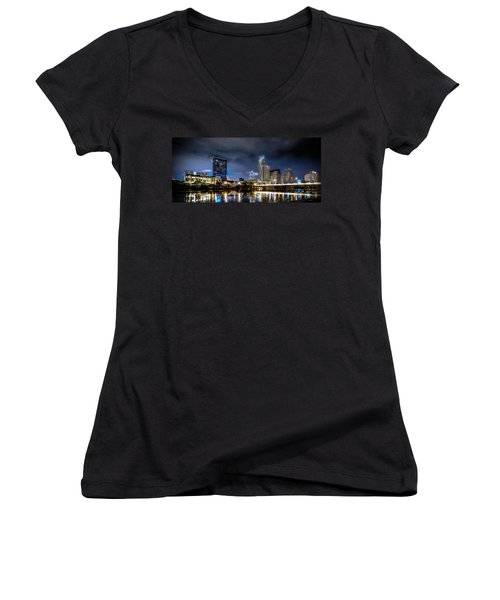 Austin Skyline Hdr Women's V-Neck T-Shirt