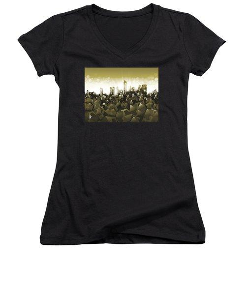 Austin Texas Geometry Women's V-Neck T-Shirt