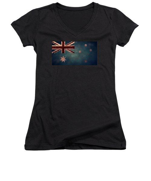 Australian Flag I Women's V-Neck T-Shirt