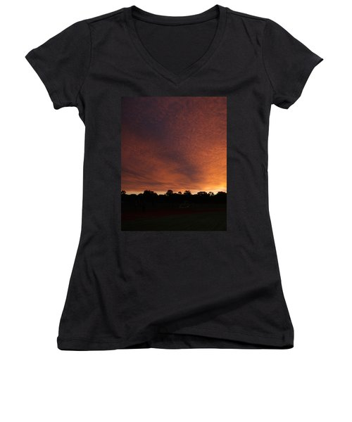 Autum Sunset Women's V-Neck (Athletic Fit)