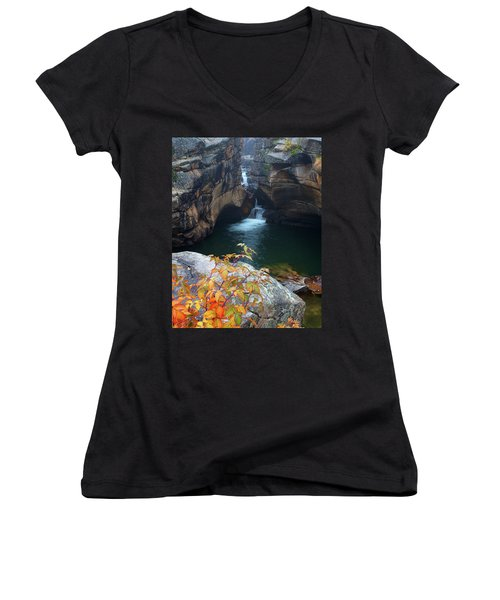 Autumn At The Grotto Women's V-Neck