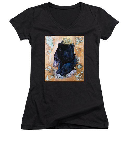 Autumn Bear Women's V-Neck