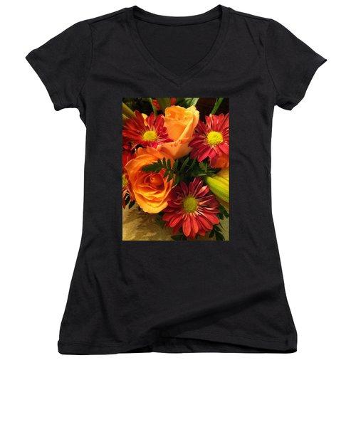 Autumn Bouquet Women's V-Neck (Athletic Fit)