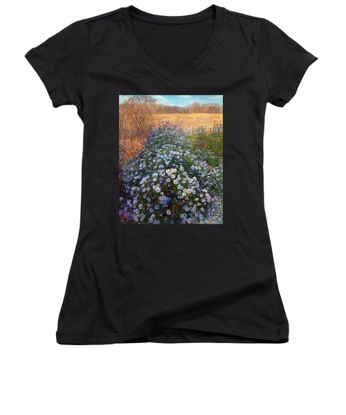 Autumn Flowers Women's V-Neck (Athletic Fit)