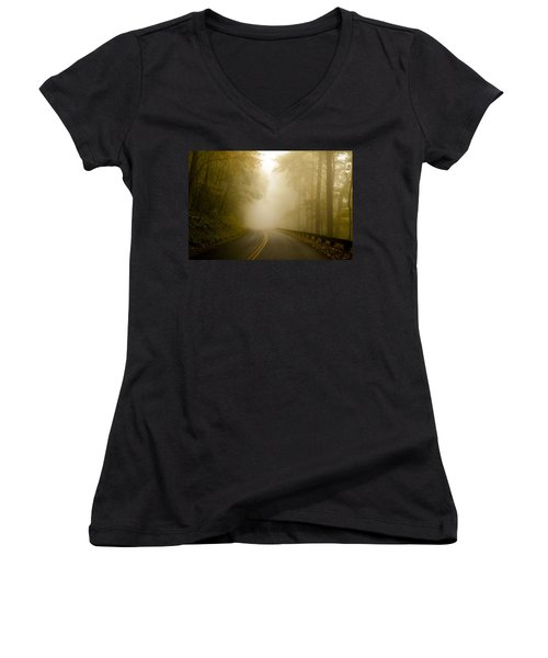 Autumn Mist Blue Ridge Parkway Women's V-Neck