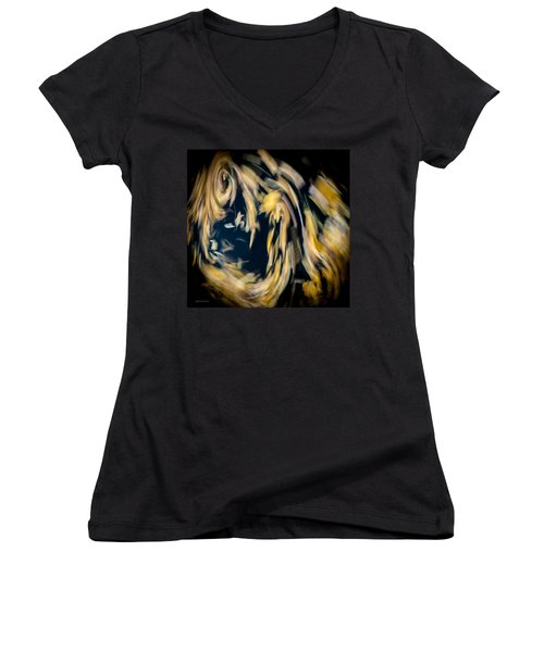 Women's V-Neck T-Shirt (Junior Cut) featuring the photograph Autumn Storm by Steven Milner
