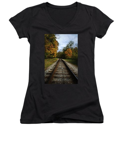 Women's V-Neck featuring the photograph Autumn View by Dale Kincaid
