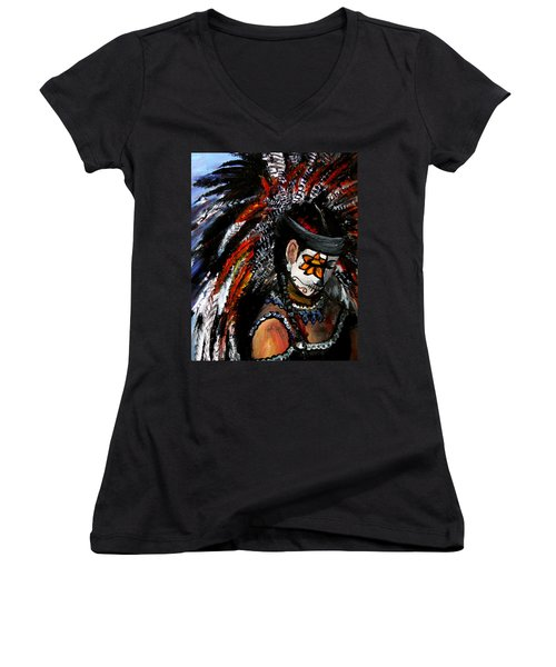 Aztec Celebration Women's V-Neck T-Shirt