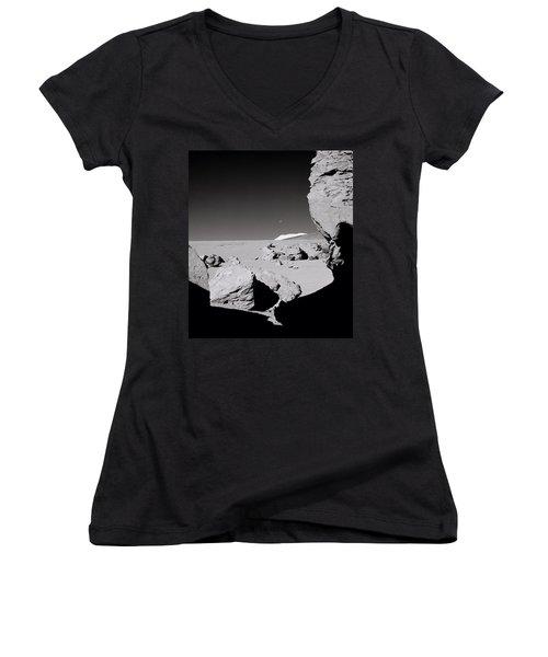 The Earth Women's V-Neck T-Shirt (Junior Cut) by Shaun Higson