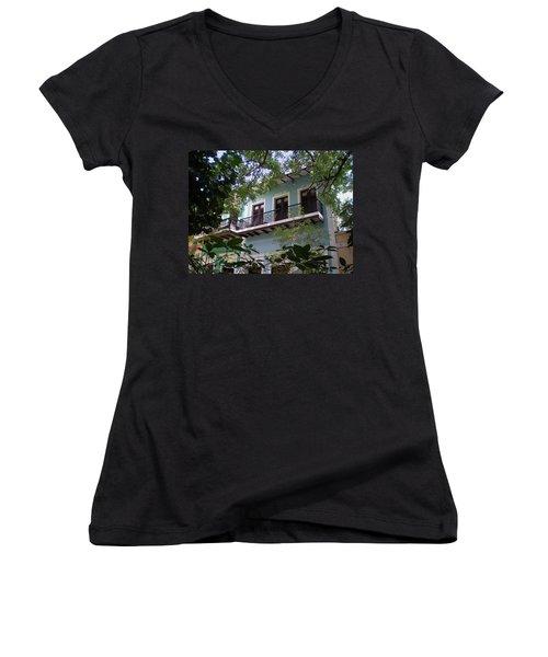 Balcony At La Caleta Women's V-Neck T-Shirt
