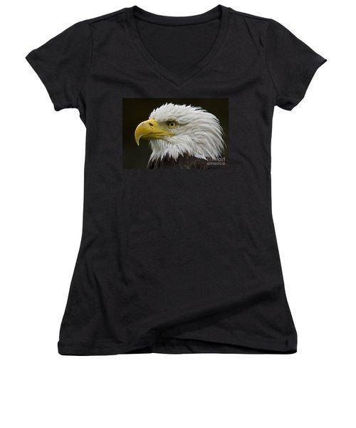 Bald Eagle - 7 Women's V-Neck