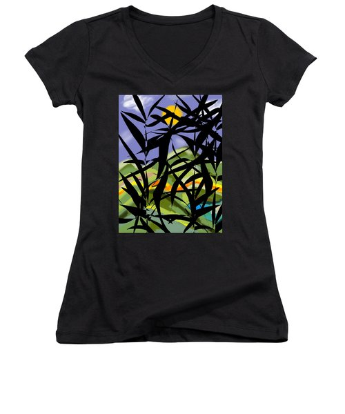 Bamboo Women's V-Neck T-Shirt (Junior Cut) by Christine Fournier