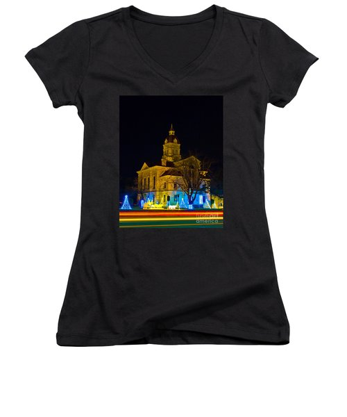 Bandera County Courthouse Women's V-Neck