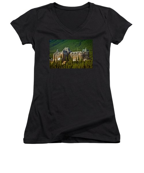Banff Springs Hotel Women's V-Neck