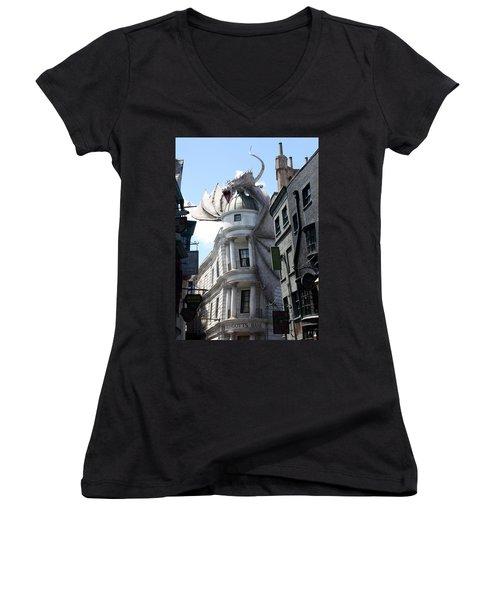 Bank Guard Women's V-Neck T-Shirt