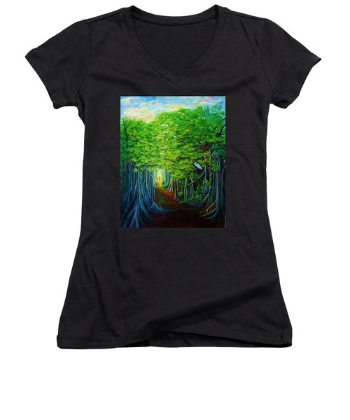 Banyan Walk Women's V-Neck T-Shirt