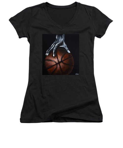 Basketball Legend Women's V-Neck (Athletic Fit)