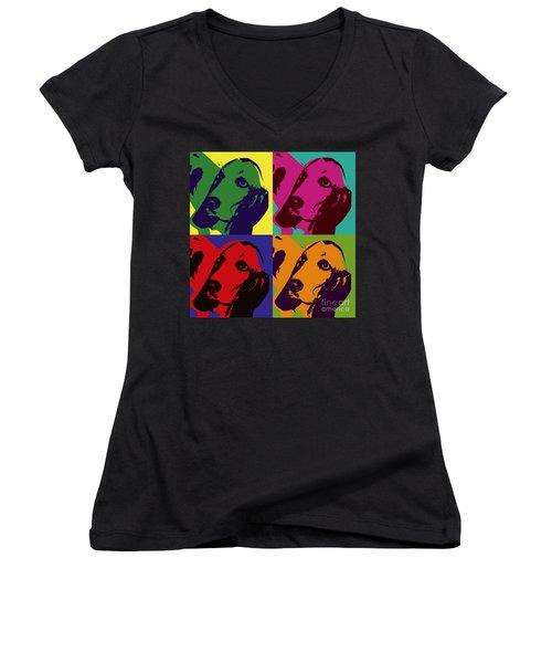 Basset Hound Women's V-Neck
