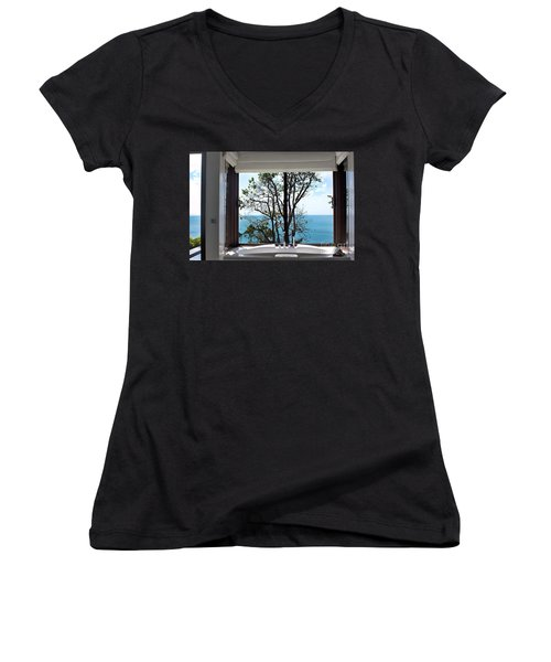 Bathroom With A View Women's V-Neck