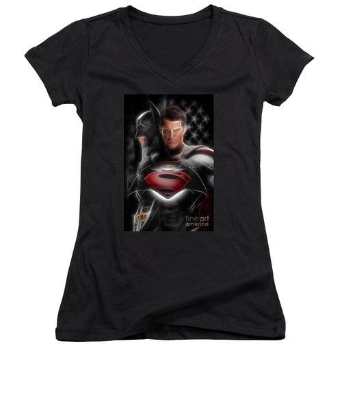 Batman Vs Superman  Women's V-Neck
