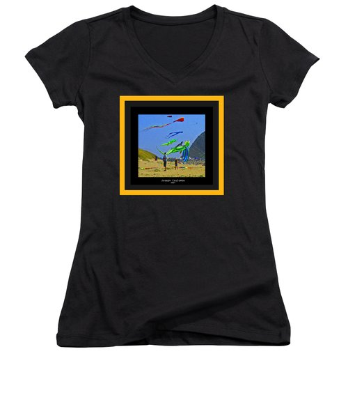 Beach Kids 4 Kites Women's V-Neck