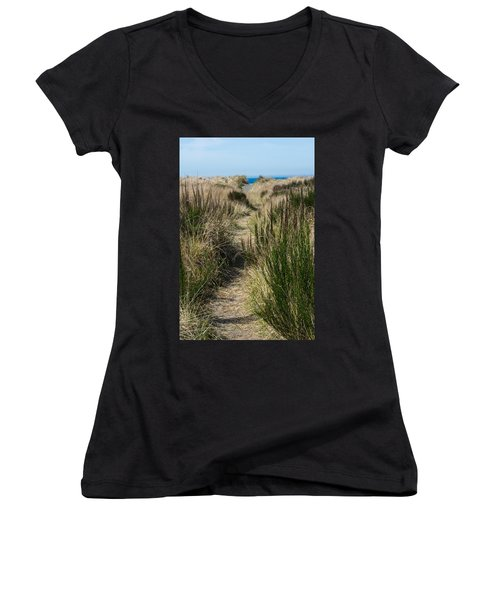 Beach Trail Women's V-Neck (Athletic Fit)