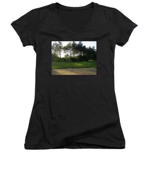 Women's V-Neck T-Shirt (Junior Cut) featuring the photograph Beautiful Earth by Verana Stark