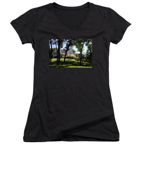 Beautiful Hillside Home Women's V-Neck T-Shirt