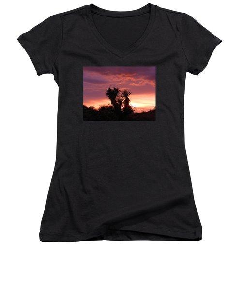 Beautiful Sunset In Arizona Women's V-Neck (Athletic Fit)