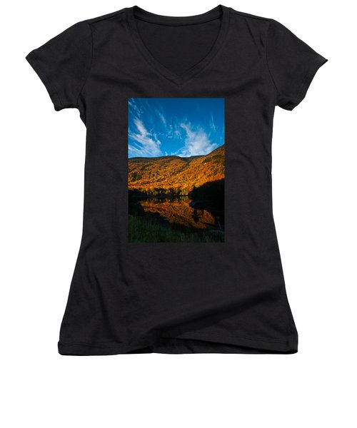 Beaver Pond White Mountain National Forest Women's V-Neck (Athletic Fit)