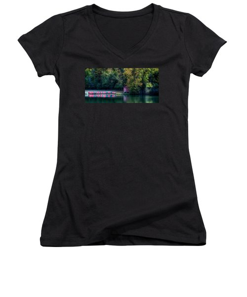 Beavers Bend Reflection Women's V-Neck (Athletic Fit)