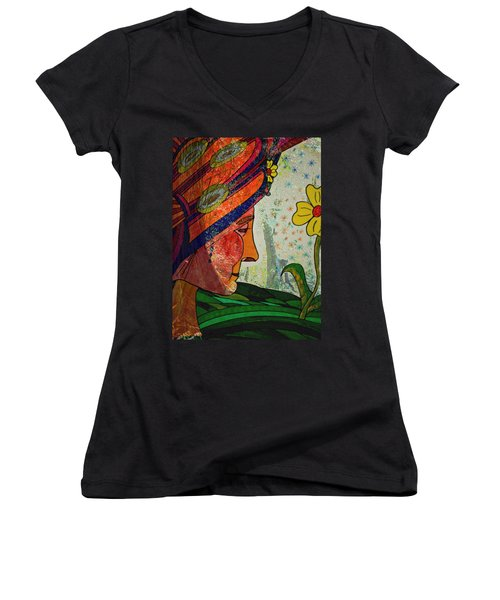 Becoming The Garden - Garden Appreciation Women's V-Neck (Athletic Fit)