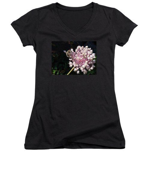 Bee And Allium Women's V-Neck (Athletic Fit)