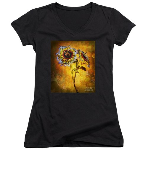 Bees To Honey Women's V-Neck (Athletic Fit)